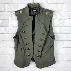 BEBE military army style vest